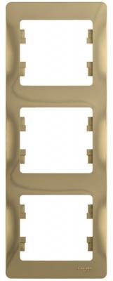 Schneider Electric Glossa Титан Рамка 3-постовая вертикальная купить в интернет-магазине Азбука Сантехники