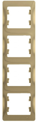 Schneider Electric Glossa Титан Рамка 4-постовая вертикальная купить в интернет-магазине Азбука Сантехники