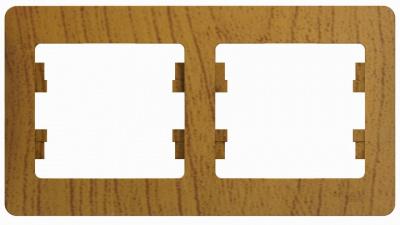 Schneider Electric Glossa Дуб Рамка 2-постовая горизонтальная купить в интернет-магазине Азбука Сантехники