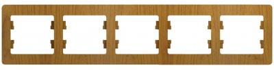 Schneider Electric Glossa Дуб Рамка 5-постовая горизонтальная купить в интернет-магазине Азбука Сантехники