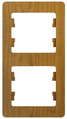 Schneider Electric Glossa Дуб Рамка 2-постовая вертикальная купить в интернет-магазине Азбука Сантехники