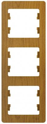 Schneider Electric Glossa Дуб Рамка 3-постовая вертикальная купить в интернет-магазине Азбука Сантехники