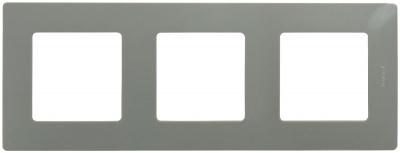 Legrand Etika Светлая галька Рамка 3 поста купить в интернет-магазине Азбука Сантехники