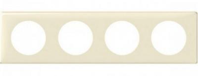 Legrand Celiane Слоновая кость Рамка 4 поста / 2+2+2+2 мод купить в интернет-магазине Азбука Сантехники
