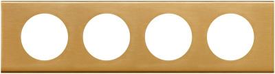 Legrand Celiane Золото Рамка 4 поста / 2+2+2+2 мод купить в интернет-магазине Азбука Сантехники
