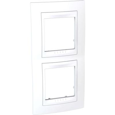 Schneider Electric Unica Хамелеон Белый/Белый Рамка 2-ая вертикальная купить в интернет-магазине Азбука Сантехники