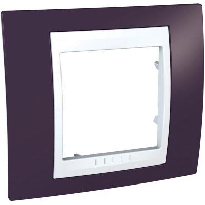 Schneider Electric Unica Хамелеон Гранат/Белый Рамка 1-ая купить в интернет-магазине Азбука Сантехники