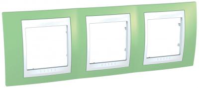 Schneider Electric Unica Хамелеон Зеленое яблоко/Белый Рамка 3-ая горизонтальная купить в интернет-магазине Азбука Сантехники