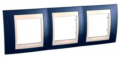 Schneider Electric Unica Хамелеон Индиго/Бежевый Рамка 3-ая горизонтальная купить в интернет-магазине Азбука Сантехники