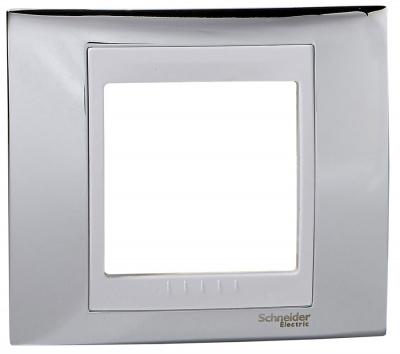 Schneider Electric Unica Хамелеон Серебро/Белый Рамка 1-ая купить в интернет-магазине Азбука Сантехники
