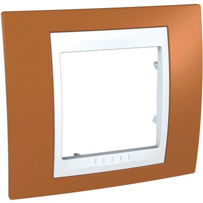 Schneider Electric Unica Хамелеон Оранжевый/Белый Рамка 1-ая купить в интернет-магазине Азбука Сантехники