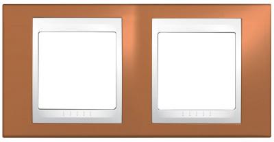 Schneider Electric Unica Хамелеон Оранжевый/Белый Рамка 2-ая горизонтальная купить в интернет-магазине Азбука Сантехники