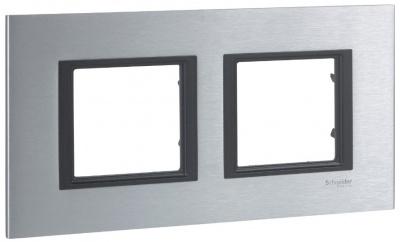 Schneider Electric Unica Class Серебристый Алюминий Рамка 2-ая купить в интернет-магазине Азбука Сантехники