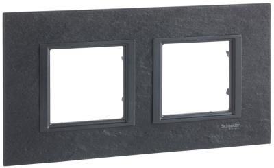 Schneider Electric Unica Class Иберийский сланец/Черный камень Рамка 2-ая купить в интернет-магазине Азбука Сантехники