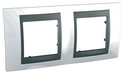 Schneider Electric Unica Top Нордик/Графит Рамка 2-ая купить в интернет-магазине Азбука Сантехники