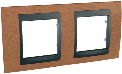 Schneider Electric Unica Top Вишня/Графит Рамка 2-ая купить в интернет-магазине Азбука Сантехники