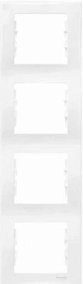Schneider Electric Sedna Белый Рамка 4-постовая вертикальная купить в интернет-магазине Азбука Сантехники