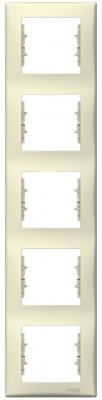 Schneider Electric Sedna Бежевый Рамка 5-постовая вертикальная купить в интернет-магазине Азбука Сантехники