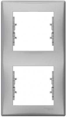 Schneider Electric Sedna Алюминий Рамка 2-постовая вертикальная купить в интернет-магазине Азбука Сантехники