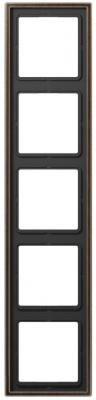 Jung LS 990 Латунь Antik Рамка 5-постовая купить в интернет-магазине Азбука Сантехники