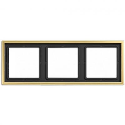 Jung LS 990 Латунь Classic Рамка 3-постовая купить в интернет-магазине Азбука Сантехники
