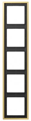 Jung LS 990 Латунь Classic Рамка 5-постовая купить в интернет-магазине Азбука Сантехники