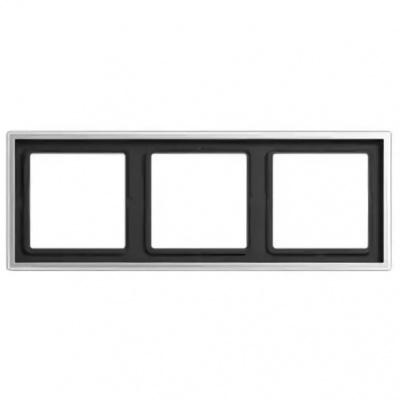 Jung LS 990 Алюминий Рамка 3-постовая купить в интернет-магазине Азбука Сантехники
