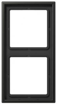 Jung LS 990 Антрацит Рамка 2-постовая купить в интернет-магазине Азбука Сантехники