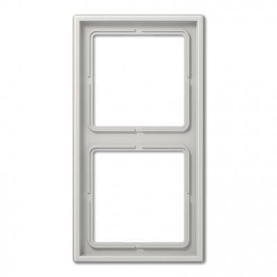 Jung LS 990 Светло-серый Рамка 2-постовая купить в интернет-магазине Азбука Сантехники