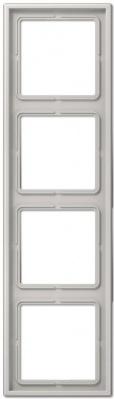 Jung LS 990 Светло-серый Рамка 4-постовая купить в интернет-магазине Азбука Сантехники