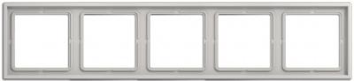 Jung LS 990 Светло-серый Рамка 5-постовая купить в интернет-магазине Азбука Сантехники