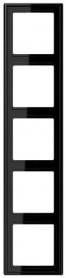 Jung LS 990 Черный Рамка 5-постовая купить в интернет-магазине Азбука Сантехники
