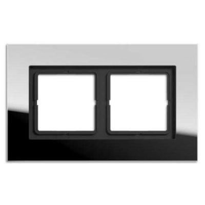 Jung LS plus Хром Рамка 2-постовая купить в интернет-магазине Азбука Сантехники