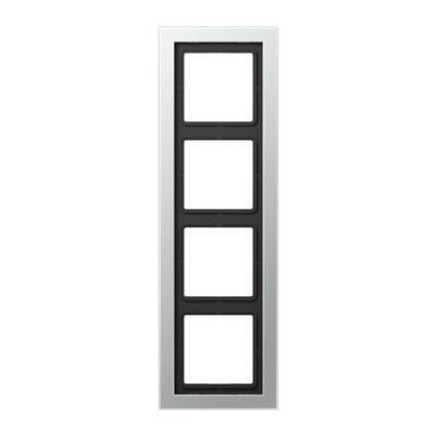 Jung LS-design Алюминий Рамка 4-постовая лакир. купить в интернет-магазине Азбука Сантехники