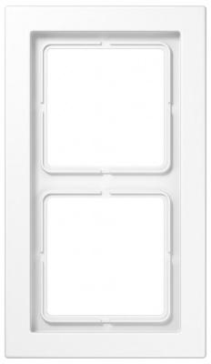 Jung LS-design Белый (дуропласт) Рамка 2-постовая купить в интернет-магазине Азбука Сантехники