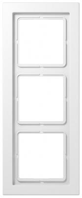 Jung LS-design Белый (дуропласт) Рамка 3-постовая купить в интернет-магазине Азбука Сантехники