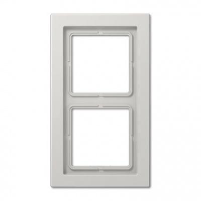 Jung LS-design Светло-серый (дуропласт) Рамка 2-постовая купить в интернет-магазине Азбука Сантехники