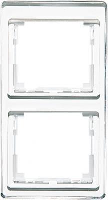 Jung SL 500 Белый Рамка 2-постовая вертикальная купить в интернет-магазине Азбука Сантехники