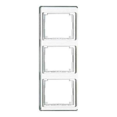 Jung SL 500 Белый Рамка 3-постовая вертикальная купить в интернет-магазине Азбука Сантехники