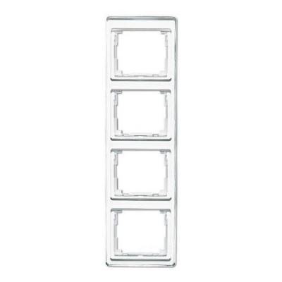 Jung SL 500 Белый Рамка 4-постовая вертикальная купить в интернет-магазине Азбука Сантехники