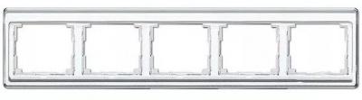 Jung SL 500 Белый Рамка 5-постовая горизонтальная купить в интернет-магазине Азбука Сантехники