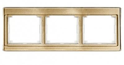 Jung SL 500 Бронза Рамка 3-постовая горизонтальная купить в интернет-магазине Азбука Сантехники