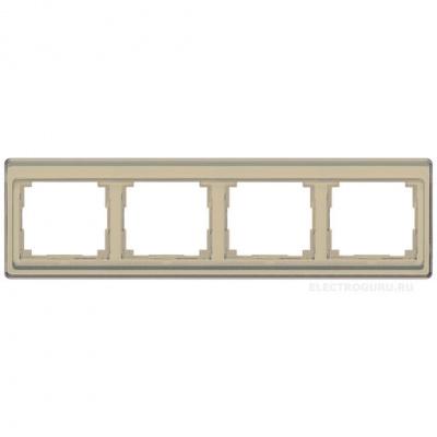 Jung SL 500 Бронза Рамка 4-постовая горизонтальная купить в интернет-магазине Азбука Сантехники