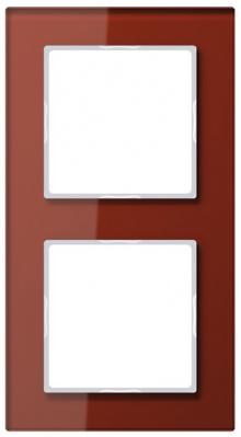 Jung A creation Стекло Красный Рамка 2-постовая купить в интернет-магазине Азбука Сантехники