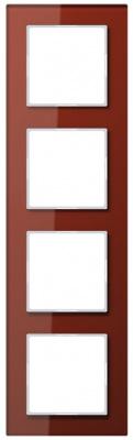 Jung A creation Стекло Красный Рамка 4-постовая купить в интернет-магазине Азбука Сантехники
