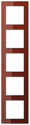 Jung A creation Стекло Красный Рамка 5-постовая купить в интернет-магазине Азбука Сантехники