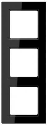 Jung A creation Черный Рамка 3-постовая купить в интернет-магазине Азбука Сантехники