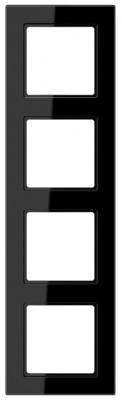 Jung A creation Черный Рамка 4-постовая купить в интернет-магазине Азбука Сантехники