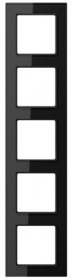 Jung A creation Черный Рамка 5-постовая купить в интернет-магазине Азбука Сантехники