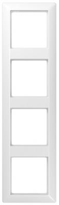Jung AS 500 Белый Рамка ударопрочная 4-ая купить в интернет-магазине Азбука Сантехники